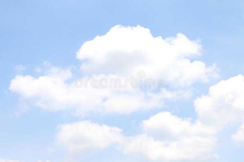 Blurred sky clear soft blue and big cloud white, sky cloudscape blue color pastel style, sky cloud white soft for background sky stock images