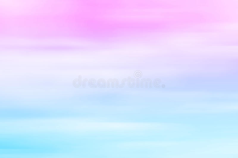 Blurred sky at sunset. Pink to blue, pastel tones, gradient. Background royalty free stock image