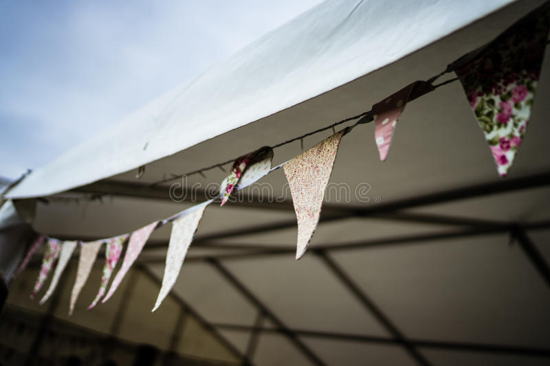 Blurred slanted bunting royalty free stock images