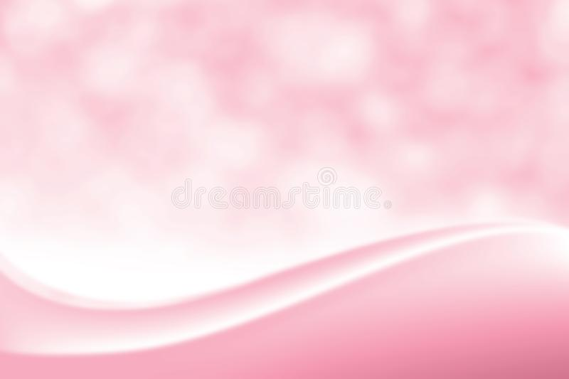 Blurred Smooth Pink elegant soft beauty background, Luxurious Cosmetic backdrop Bokeh soft light shade, Gradient colour tone sweet. The Blurred Smooth Pink vector illustration
