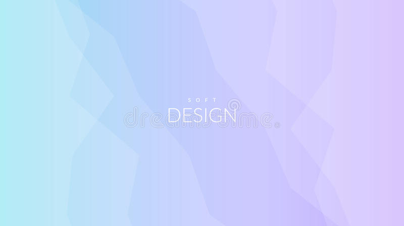 Blurred soft color gradient horizontal background stock illustration