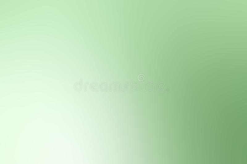 Blurred soft green gradient colorful light shade background vector illustration