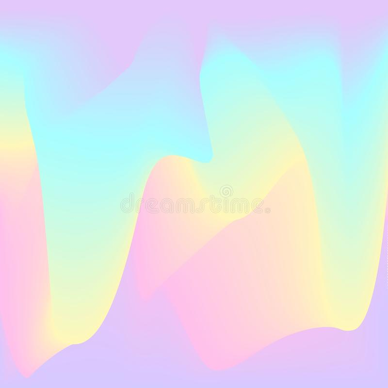 Blurred soft pastel pink yelow purple violet white color palette smooth gradient blended liquid shapes flow texture royalty free illustration