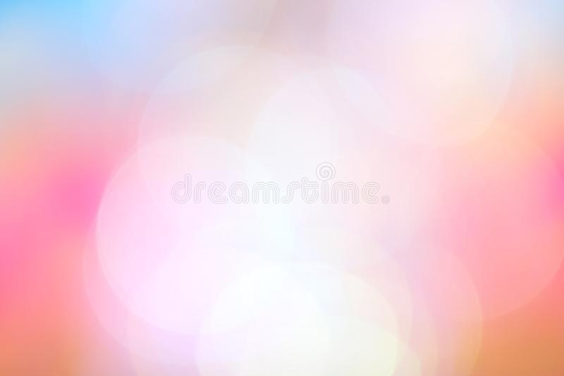 Blurred soft pink blue gradient colorful light shade bokeh background, abstract pastel soft pink and blue color background. The blurred soft pink blue gradient stock illustration