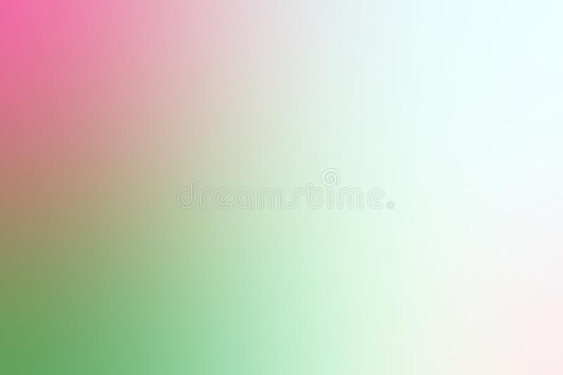 Blurred soft pink and green gradient colorful light shade background stock illustration