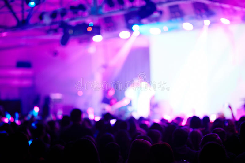 Blurred Stage Performance in Purple Light royalty free stock photos
