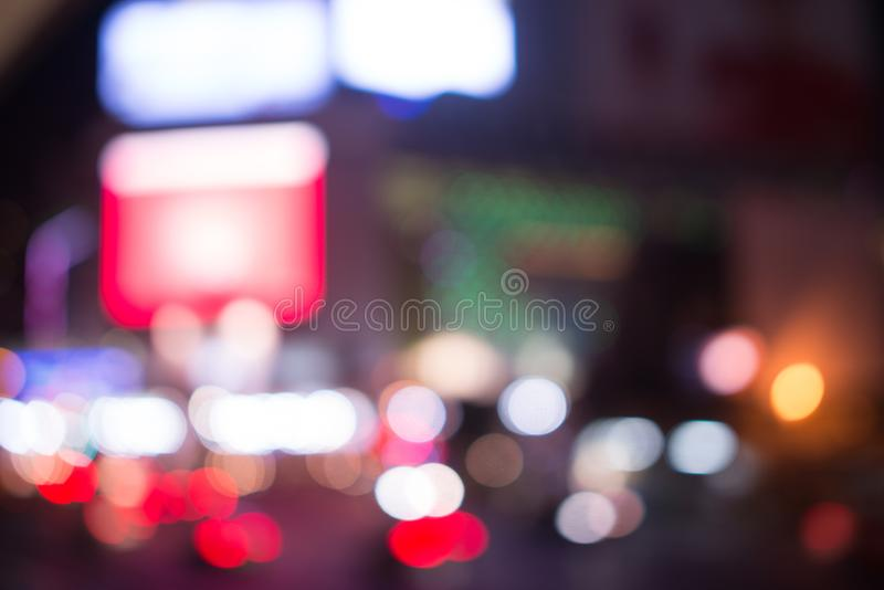 Blurred street lights, urban abstract background. defocused image of night city. Vehicles on the road. Blurred street lights, urban abstract background royalty free stock images