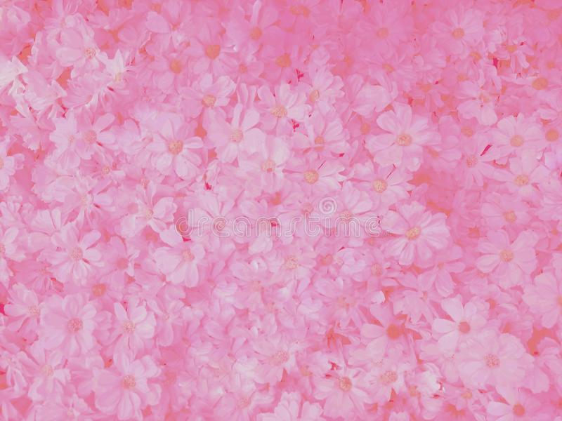 Blurred of sweet flowers in pastel color style on soft blur bokeh texture for background.  stock images
