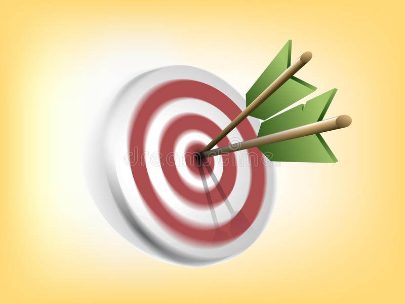 Blurred Target with Arrows royalty free illustration