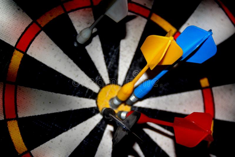 Blurred target darts. It can be used as background for creating collages and illustrations on the theme of sports games, darts, etc royalty free stock images