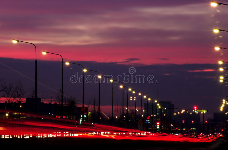 Blurred traffic lights royalty free stock photos