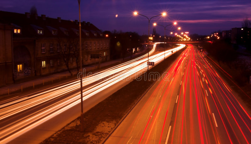 Blurred Traffic Lights Royalty Free Stock Images