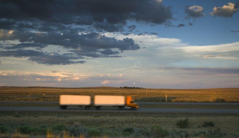 Blurred truck stock photo