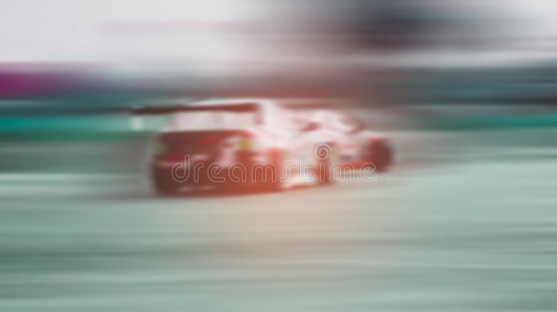 Blurred -two sports cars are competing battle on and running at high speed outdoor race car drift with excitement, Xstream. Motorsport concept stock images
