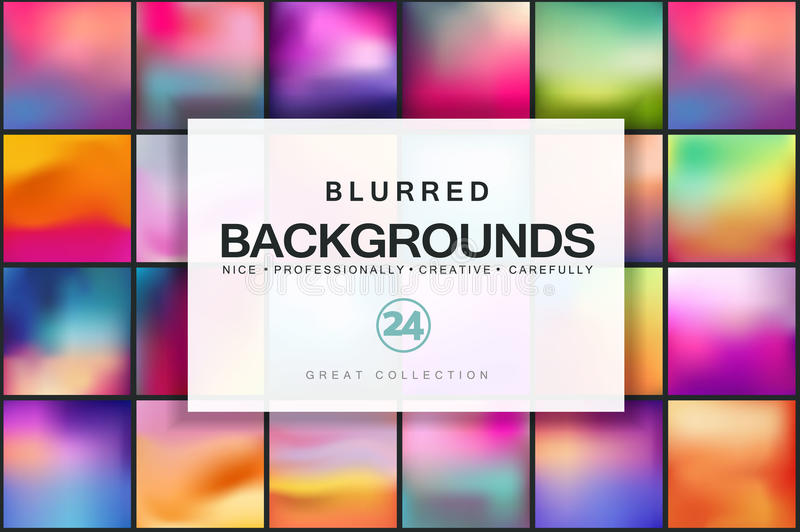 Blurred vector backgrounds. royalty free illustration