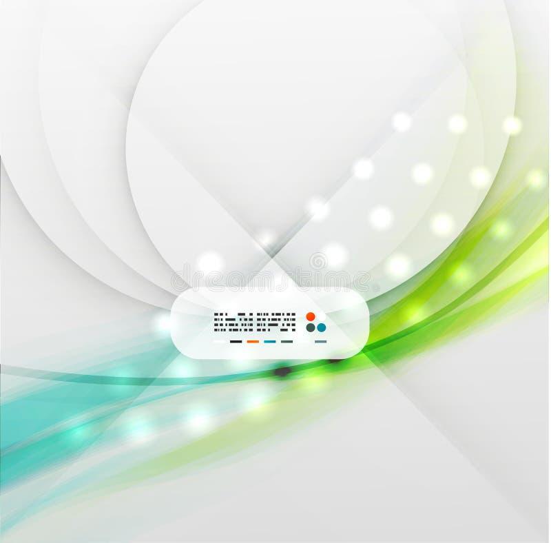 Blurred vector wave modern design royalty free illustration