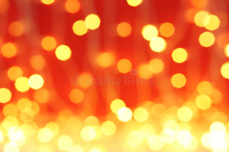 Blurred view of Christmas lights. Festive background stock images