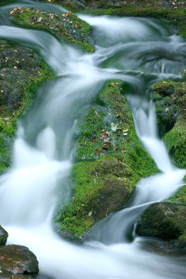 Download Blurred waterfall stock image. Image of creek, tranquility - 326385