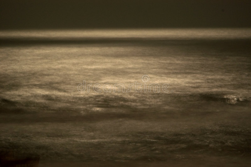 Download Blurred Waves In The Moonlight Stock Photo - Image: 15762