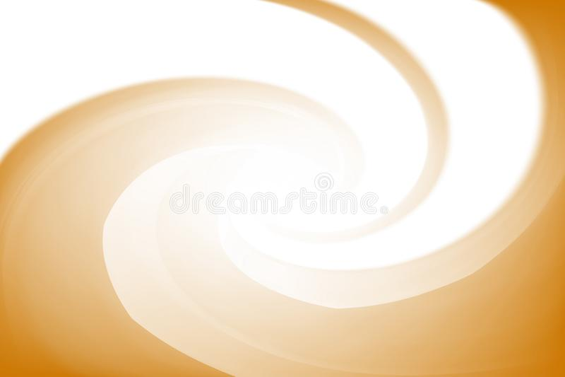Blurred white and gold colors twist wave colorful effect for background, illustration gradient in water color art swirl. The blurred white and gold colors twist stock illustration