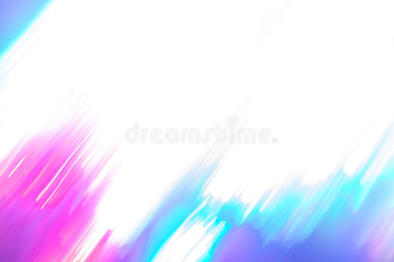 Blurred white-pink-turquoise background of neon lights of trendy colors. royalty free stock photography