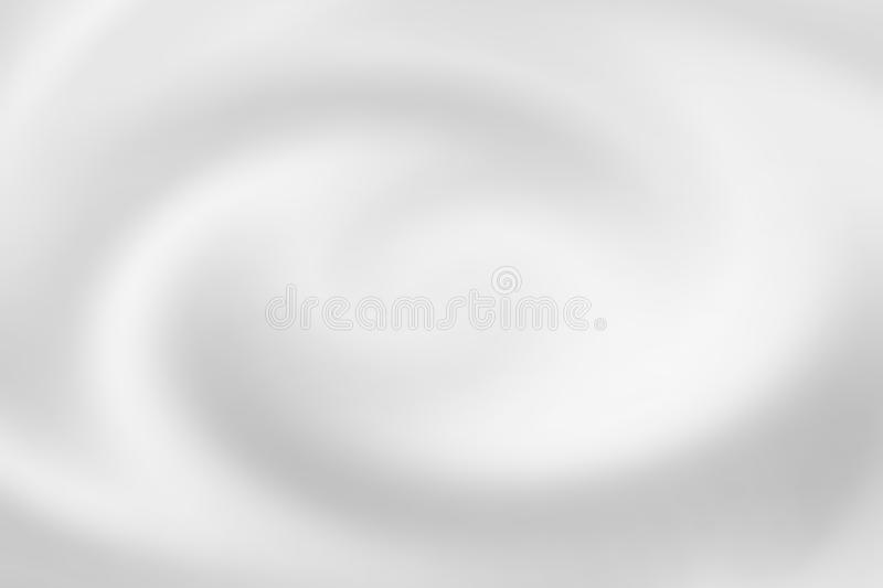 Blurred white water spiral with liquid ripple, soft background texture royalty free illustration