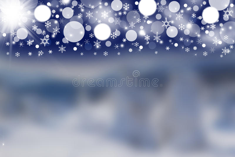 Blurred winter background witd dark sky royalty free stock photo