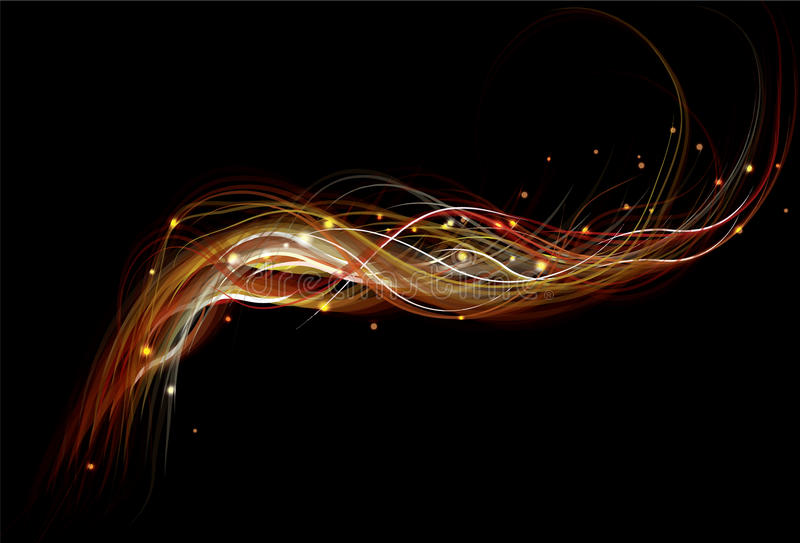 Blurry Abstract Fire Background Royalty Free Stock Photos
