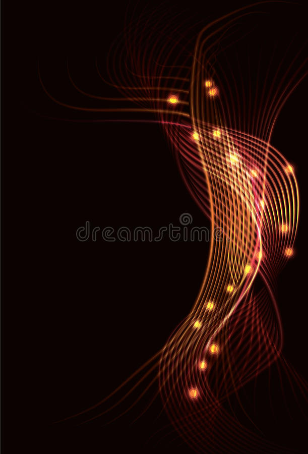 Blurry abstract fire background. Blurry abstract light effect fire background stock illustration