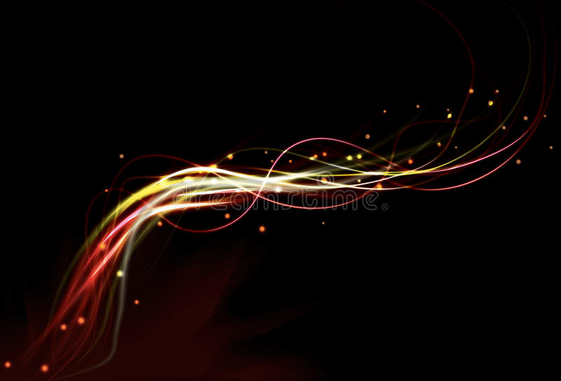 Blurry abstract fire light effect background stock illustration