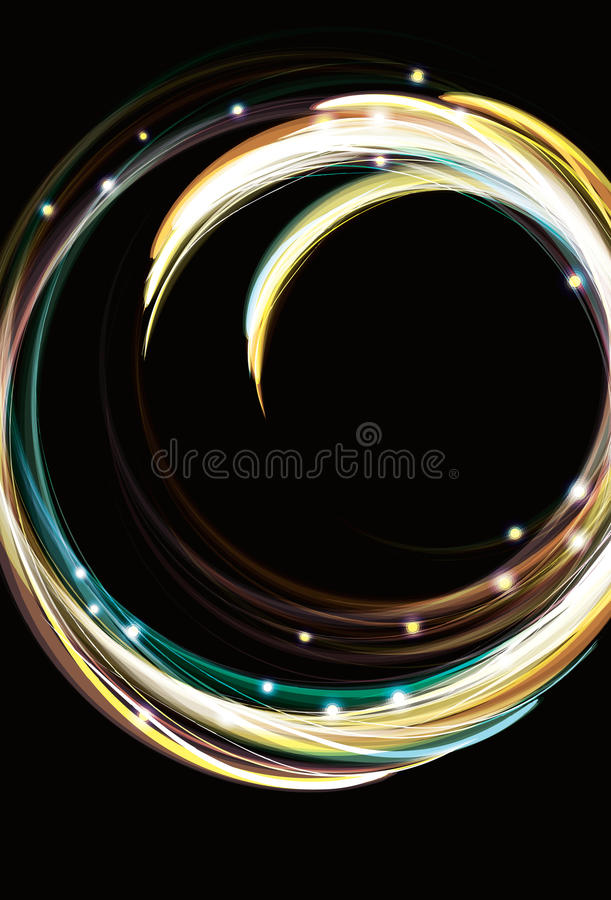 Blurry abstract light effect circle background. Blurry abstract light effect swirling circle background