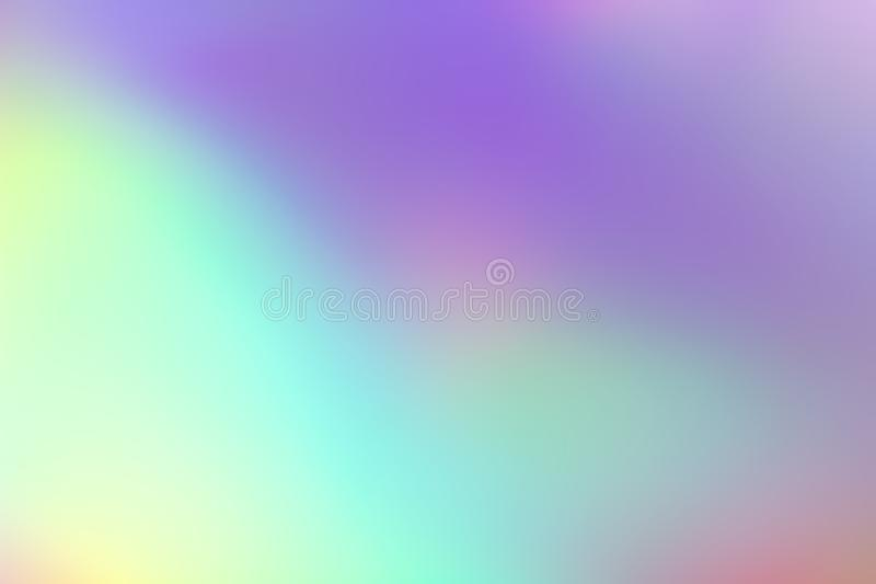 Blurry abstract pastel holographic foil background. Photograph royalty free stock image
