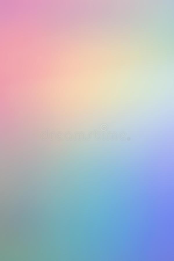 Blurry abstract pastel holographic foil background. Creative colorful blurry abstract pastel holographic iridescent foil background photography royalty free stock image