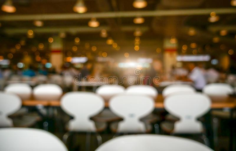 Blurry background of luxury restaurant. Abstract and background concept. Cafe and Canteen theme stock images