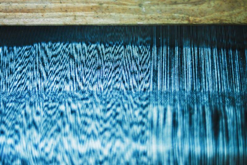 Beautiful Thai silk pattern background. Blurry of Beautiful Thai silk pattern background, shallow depth of field royalty free stock photo