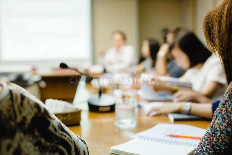 Blurry of Business Conferencing royalty free stock images