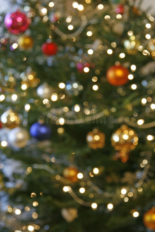 Download Blurry christmas tree stock photo. Image of glowing, vibrant - 16955048