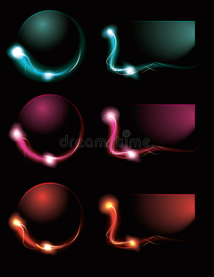 Download Blurry Glowing Light Effect Buttons Stock Vector - Illustration of glitter, abstract: 19886179