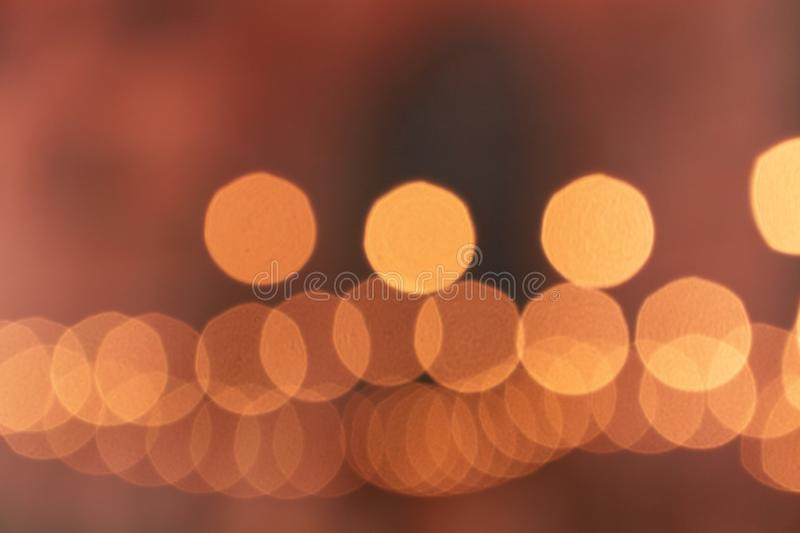 Blurry light bulbs in cafe abstract background, horizontal texture. Blurry light bulbs in cafe abstract background, horizontal blurred texture royalty free stock photo