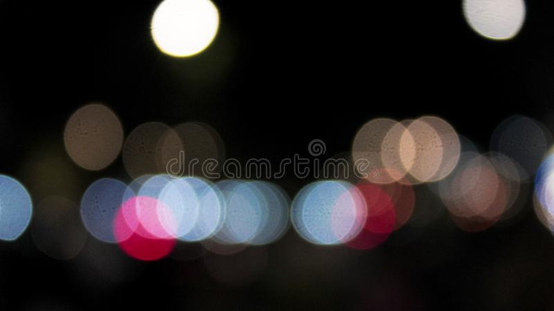 Blurry light source. In the middle of the night. Taken in Pondok Indah, Jakarta stock photography