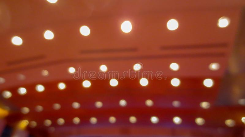 Blurry line of light in seminar royalty free stock photos