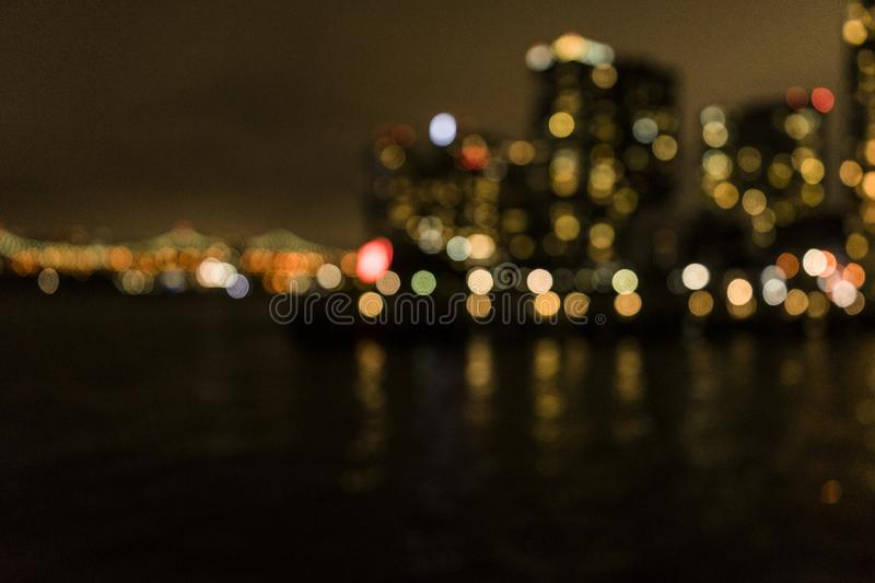 Blurry New York. A blurry New York at bight royalty free stock photography