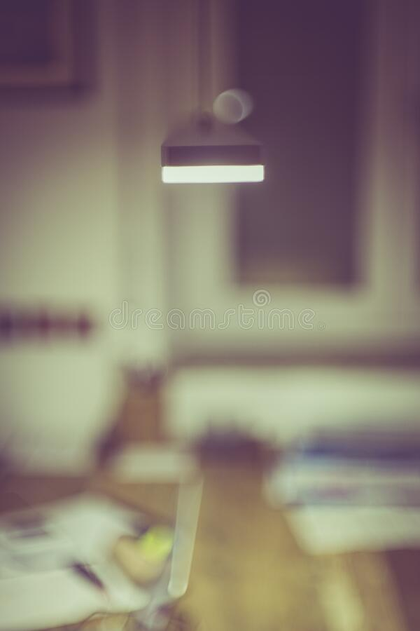 Blurry office interior royalty free stock image