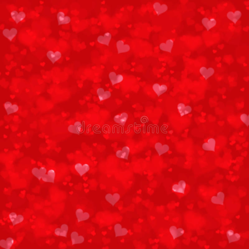 Blurry red hearts abstract stock illustration