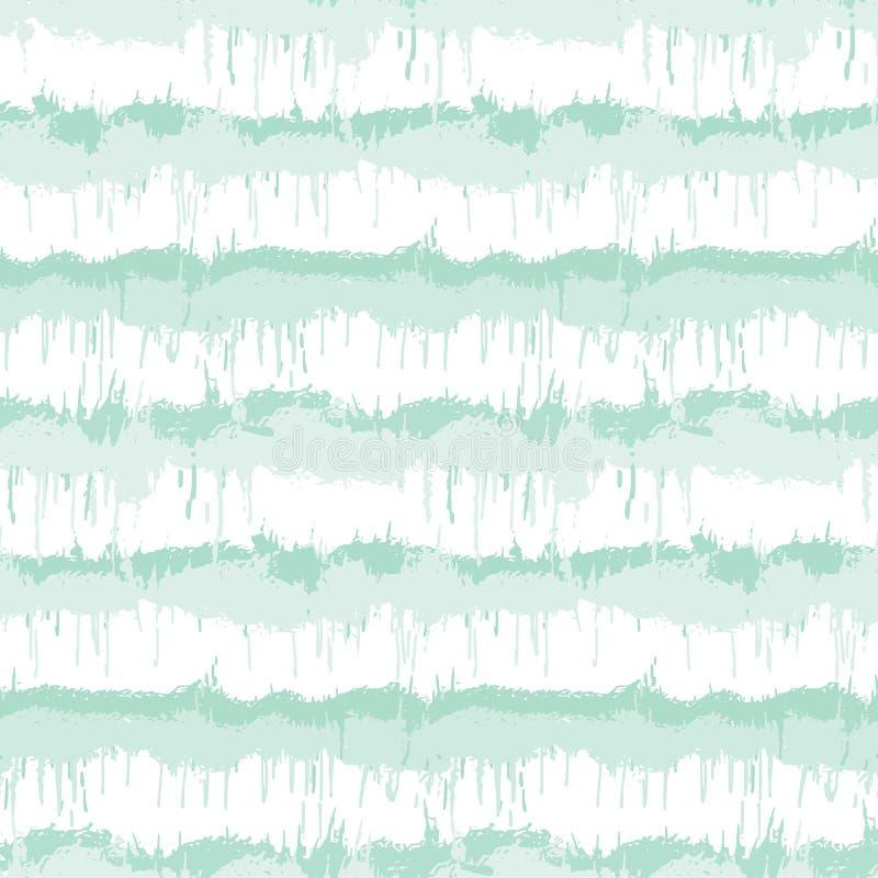 Blurry Shibori Streifen Schnürfärbung Hintergrund Unregelmäßiges Nahtloses Muster unregelmäßiger Streifen auf gebleihtem, weißem  vektor abbildung