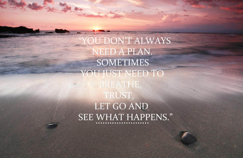 Blurry Sunset On The Beach With Inspirational Quote - You ...