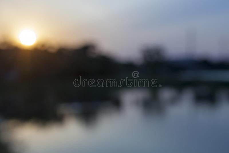 Blurry of the Sunset. Blurred picture for background,backdrop and postcard royalty free stock photography