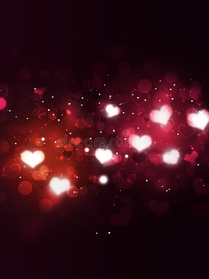 Blurry Valentines day Hearts vector illustration