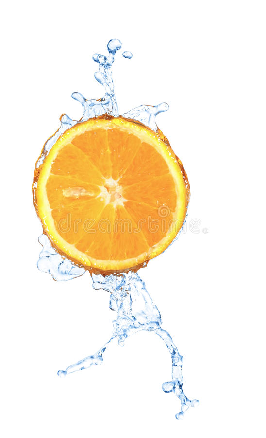 Download Blurry Water Splash In A Slice Of Orange  Isolated Stock Image - Image: 19235335