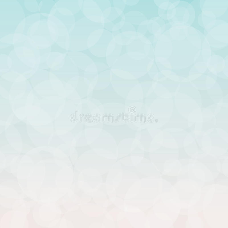 Blurry White Background with Circles vector illustration